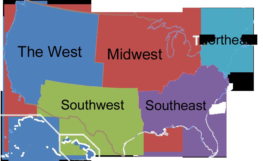 Bread Heroes USA Regions Map